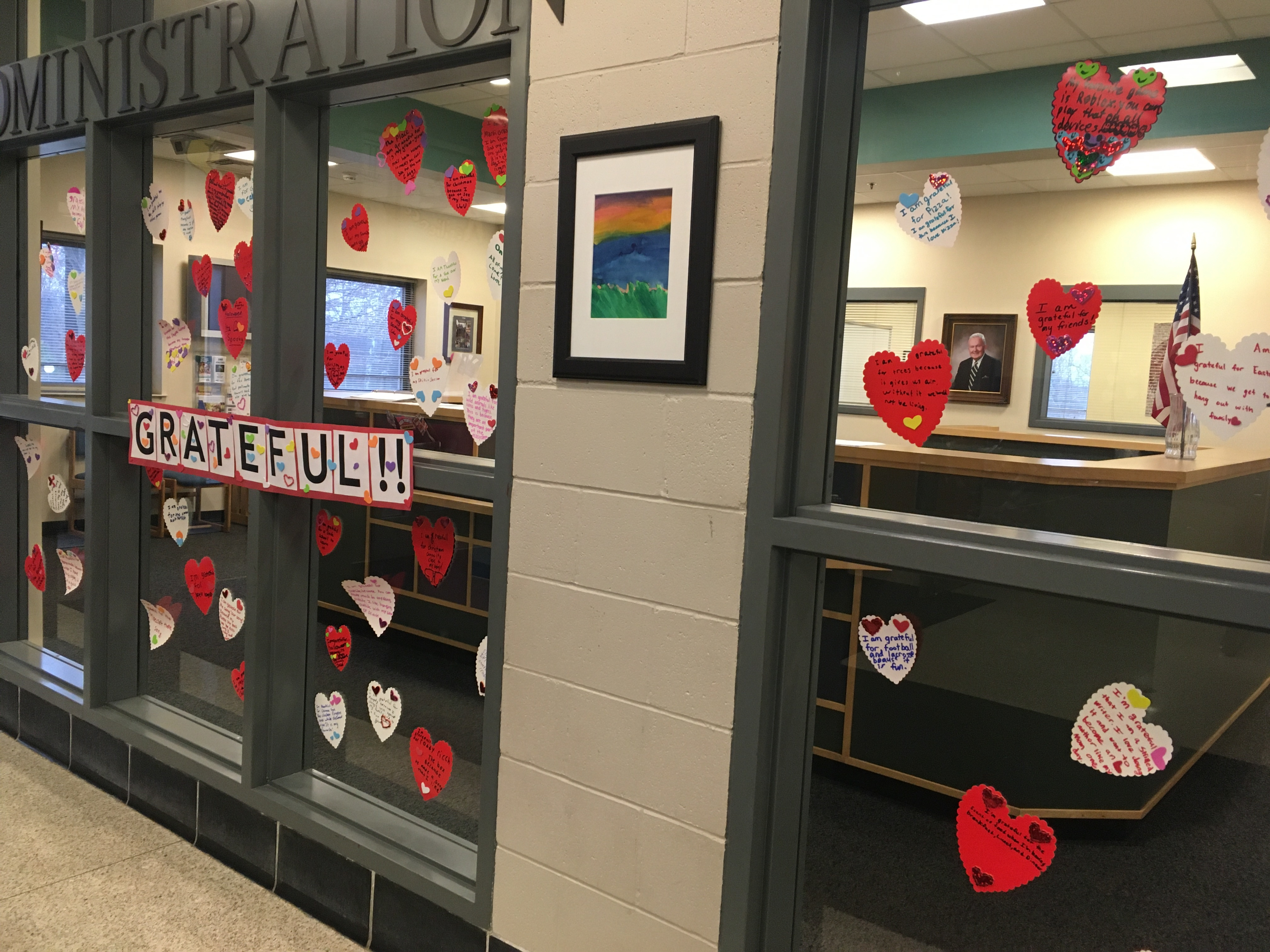 Sharing Our Gratitude Display